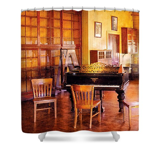 Music - Piano - Ready for Piano Lessons Shower Curtain by Mike Savad