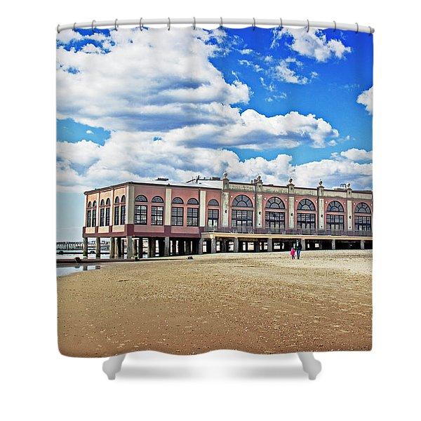 Music pier Shower Curtain by Tom Gari Gallery-Three-Photography