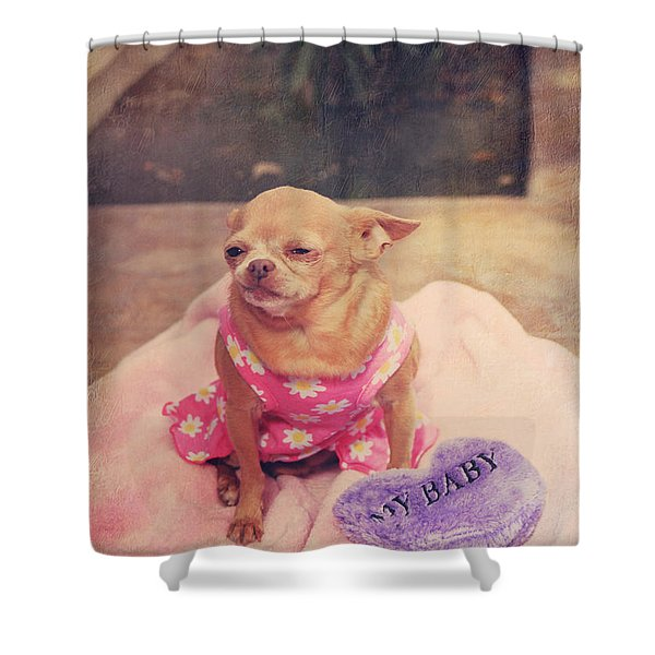 My Baby Shower Curtain by Laurie Search