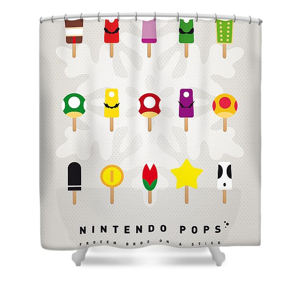 My MARIO ICE POP - UNIVERS Shower Curtain by Chungkong Art