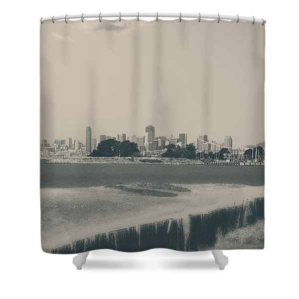My Mind Knows No Quiet Shower Curtain by Laurie Search