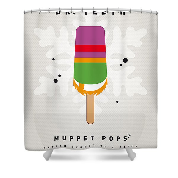 My Muppet Ice Pop - Dr Teeth Shower Curtain by Chungkong Art