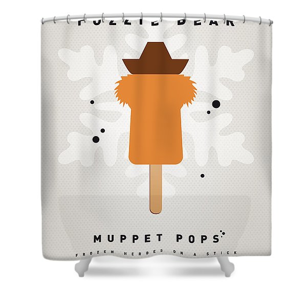 My Muppet Ice Pop - Fozzie Bear Shower Curtain by Chungkong Art