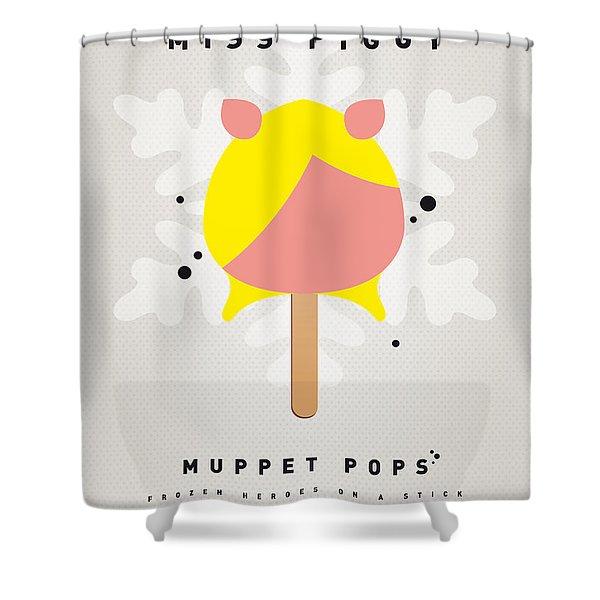 My Muppet Ice Pop - Miss Piggy Shower Curtain by Chungkong Art