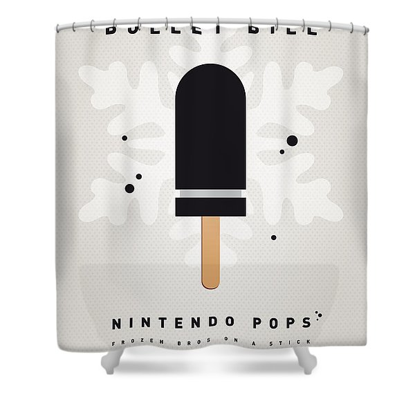 My NINTENDO ICE POP - Bullet Bill Shower Curtain by Chungkong Art