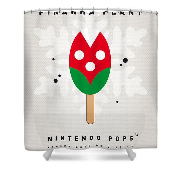 My NINTENDO ICE POP - Piranha Plant Shower Curtain by Chungkong Art