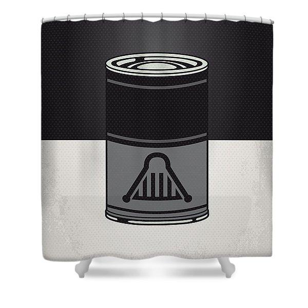 My Star Warhols Darth Vader Minimal Can Poster Shower Curtain by Chungkong Art