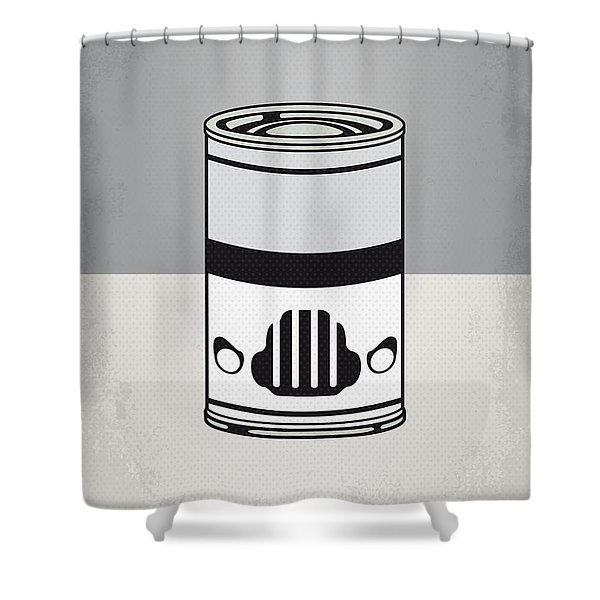 MY STAR WARHOLS STORMTROOPER MINIMAL CAN POSTER Shower Curtain by Chungkong Art