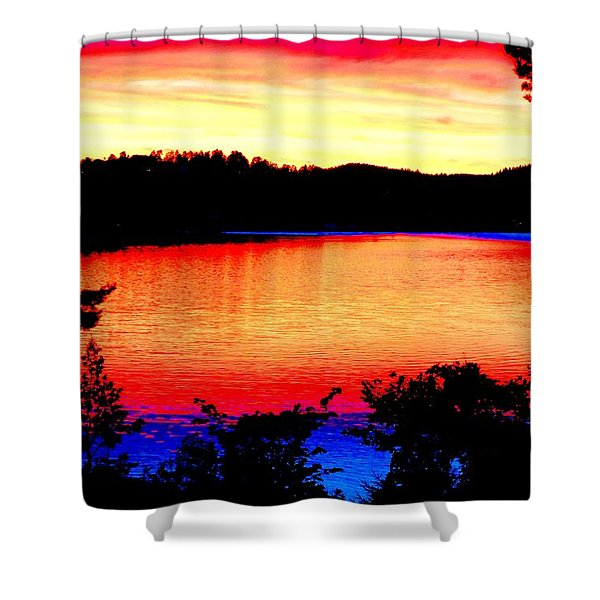 my sunset Shower Curtain by Hilde Widerberg