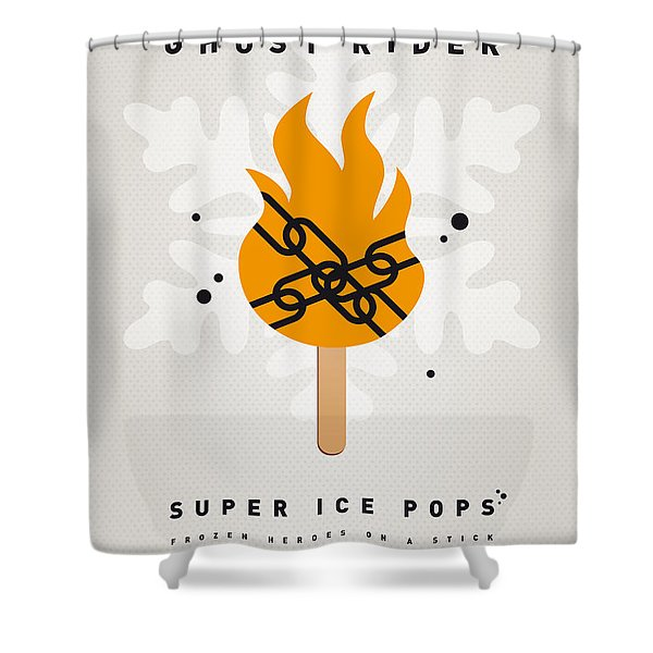 My SUPERHERO ICE POP - Ghost Rider Shower Curtain by Chungkong Art