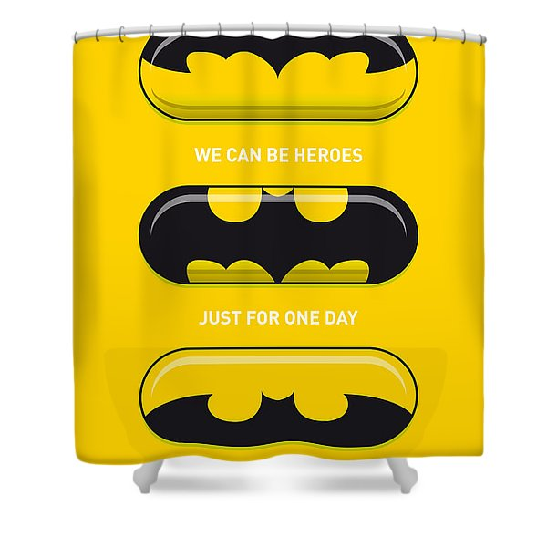 My Superhero Pills - Batman Shower Curtain by Chungkong Art