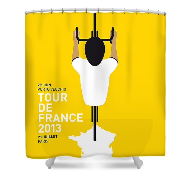 MY TOUR DE FRANCE MINIMAL POSTER Shower Curtain by Chungkong Art
