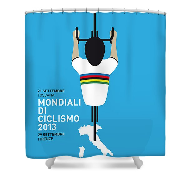 MY World Championships MINIMAL POSTER Shower Curtain by Chungkong Art