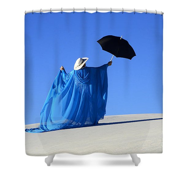 Mystic Blue 2 Shower Curtain by Bob Christopher