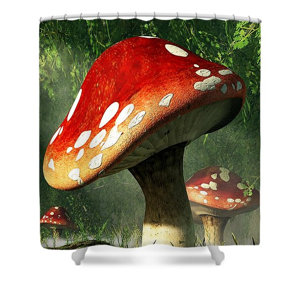 Mystic Mushroom Shower Curtain by Daniel Eskridge