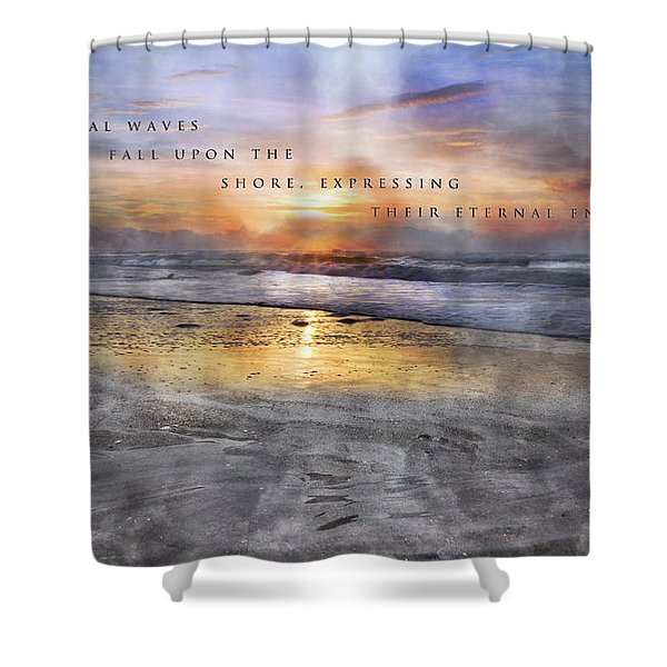 Mystical Waves Shower Curtain by Betsy C  Knapp