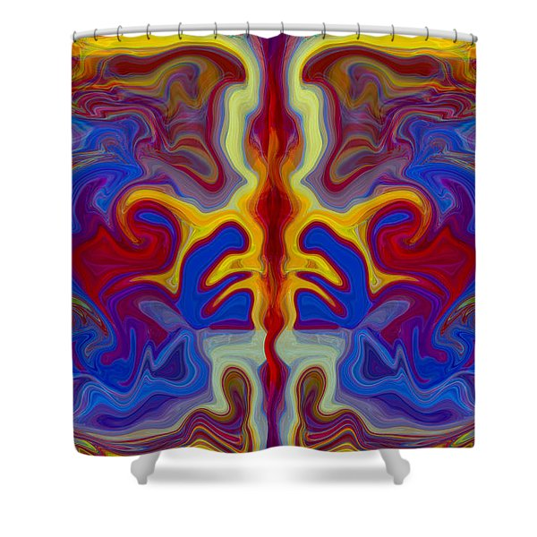 Myths Of Dragons Shower Curtain by Omaste Witkowski