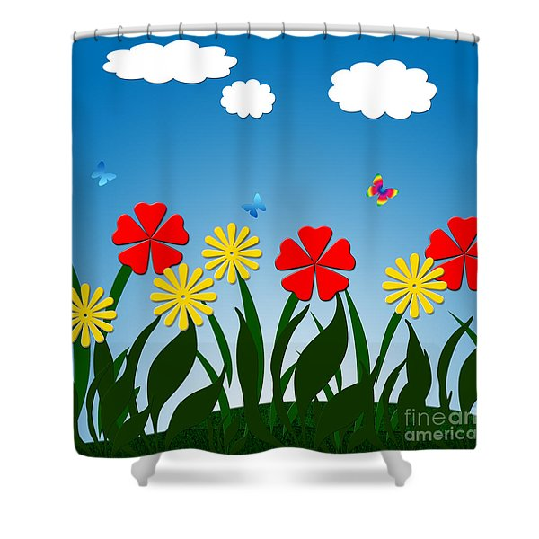 Naive Nature Scene Shower Curtain by Gaspar Avila