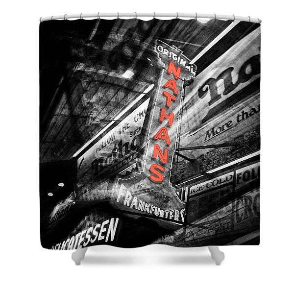 Nathan's Famous Shower Curtain by Natasha Marco