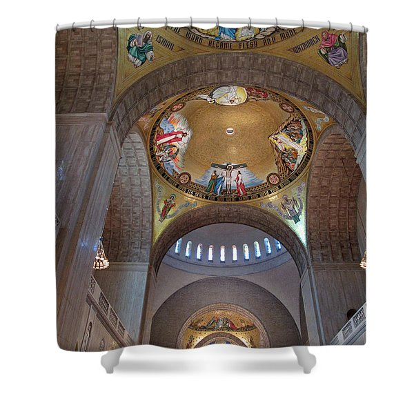 National Shrine Interior Shower Curtain by Barbara McDevitt
