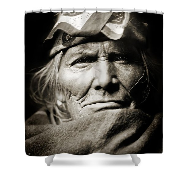 Native American Zuni -  Si Wa Wata Wa  Shower Curtain by The  Vault - Jennifer Rondinelli Reilly