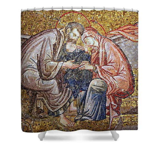 Nativity Shower Curtain by Stephen Stookey