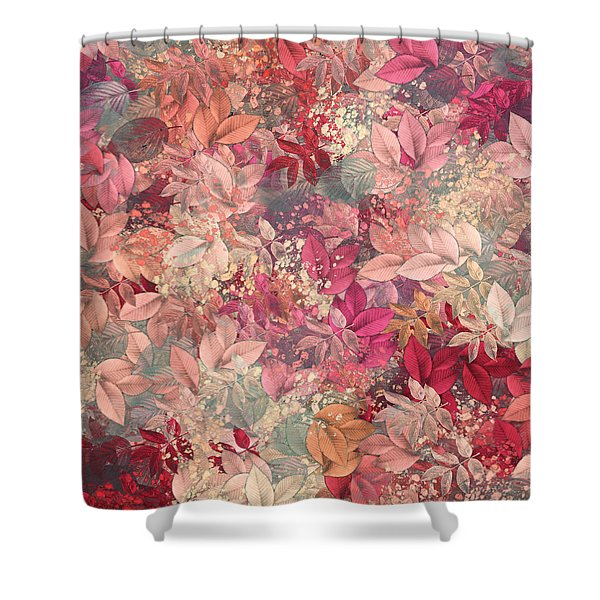 Naturaleaves - s65b Shower Curtain by Variance Collections