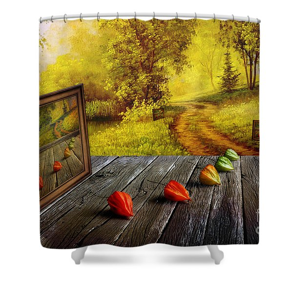 Nature Exhibition Shower Curtain by Veikko Suikkanen