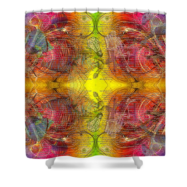 Nature Of Awareness Shower Curtain by Betsy C  Knapp