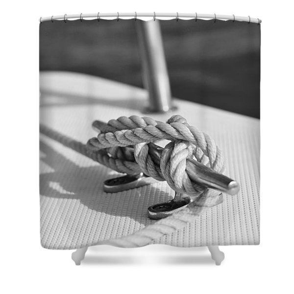 nautical Shower Curtain by Laura  Fasulo