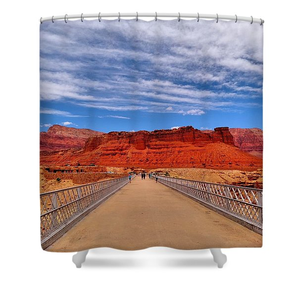 Navajo Bridge Shower Curtain by Dan Sproul