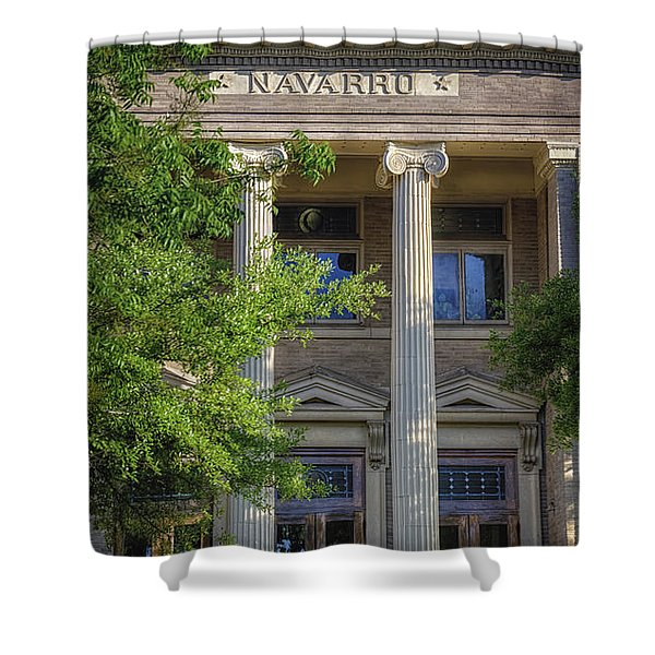 Navarro County Courthouse Shower Curtain by Joan Carroll
