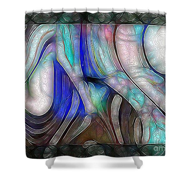 Nerve Center Shower Curtain by RC DeWinter