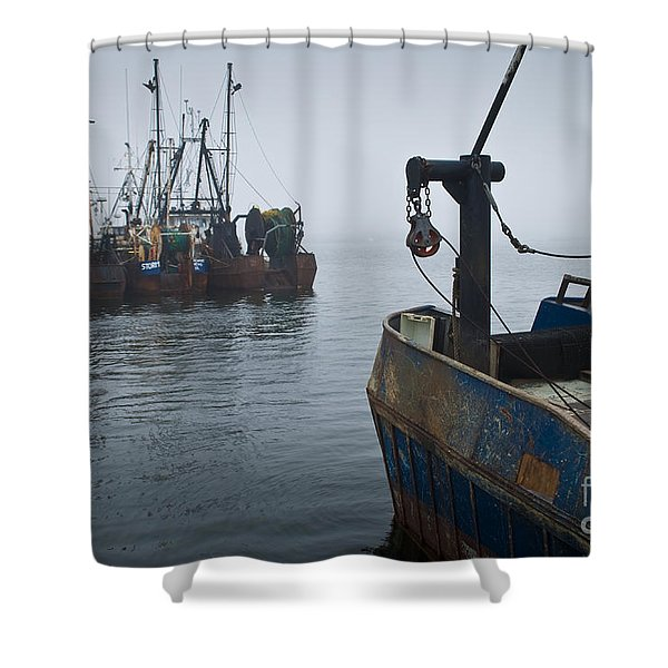 New Bedford Waterfront No. 2 Shower Curtain by David Gordon