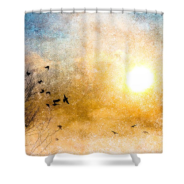New Day Yesterday Shower Curtain by Bob Orsillo
