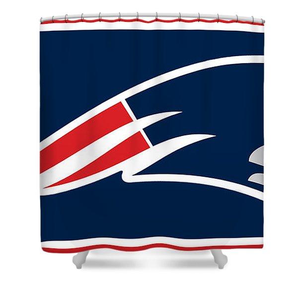 New England Patriots Shower Curtain by Tony Rubino