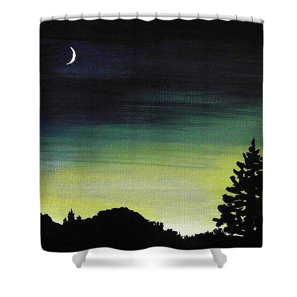 New Moon Shower Curtain by Anastasiya Malakhova