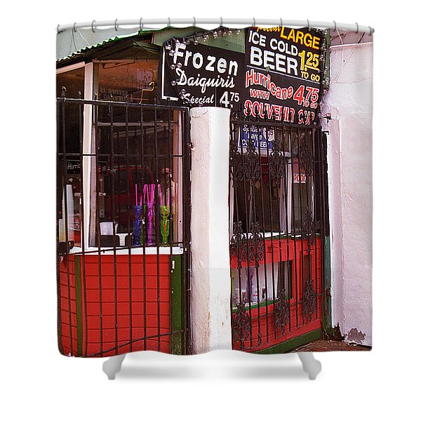 New Orleans - Bourbon Street 5 Shower Curtain by Frank Romeo