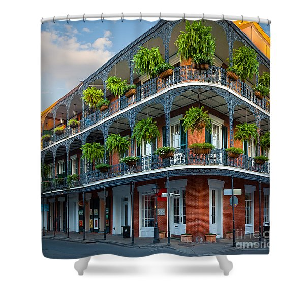 New Orleans House Shower Curtain by Inge Johnsson