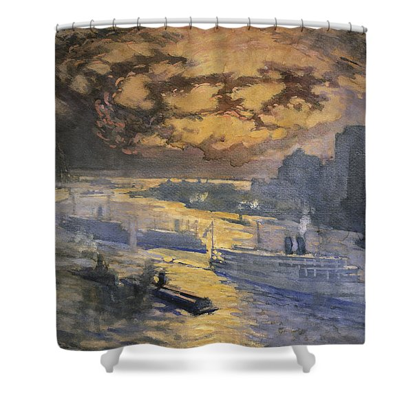 New York City Circa 1921 Shower Curtain by Aged Pixel