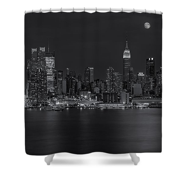 New York City Night Lights Shower Curtain by Susan Candelario
