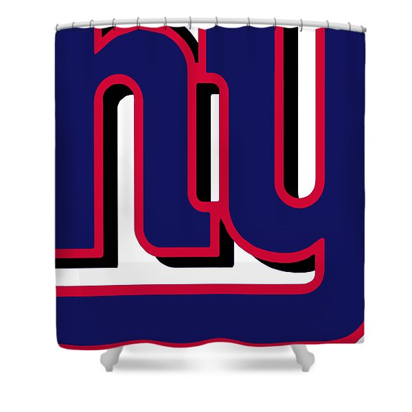New York Giants Football 2 Shower Curtain by Tony Rubino