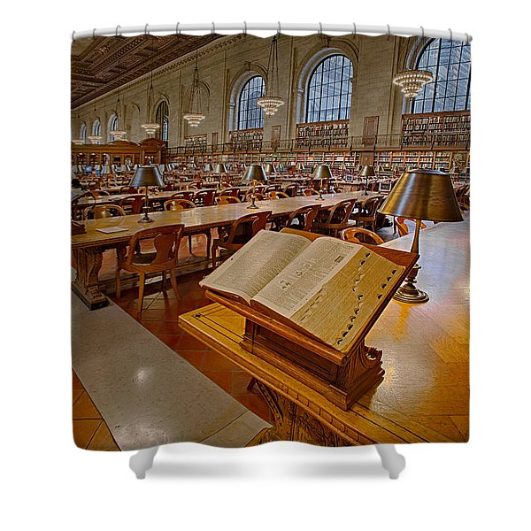 New York Public Library Rose Main Reading Room Shower Curtain by Susan Candelario