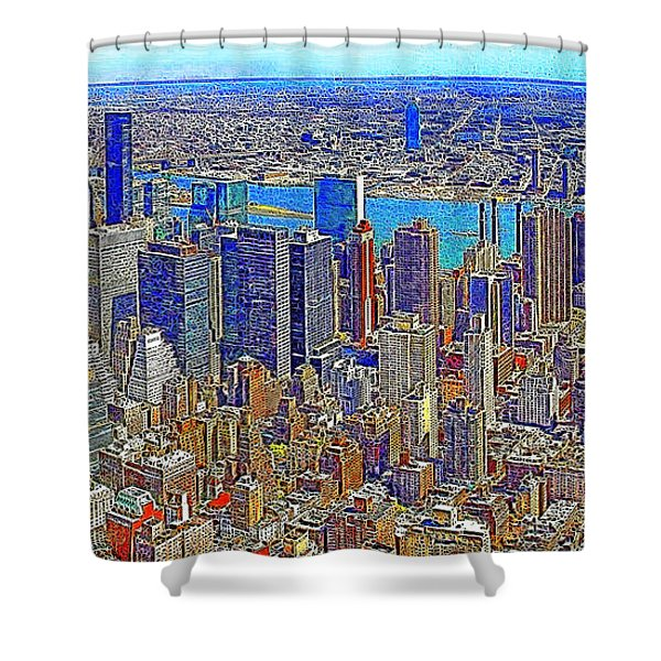 New York Skyline 20130430 Shower Curtain by Wingsdomain Art and Photography
