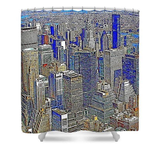 New York Skyline 20130430v2 Shower Curtain by Wingsdomain Art and Photography