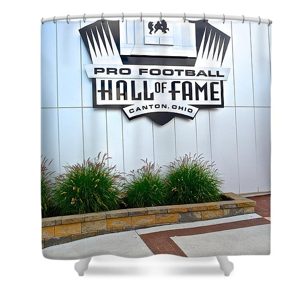 NFL Hall of Fame Shower Curtain by Frozen in Time Fine Art Photography