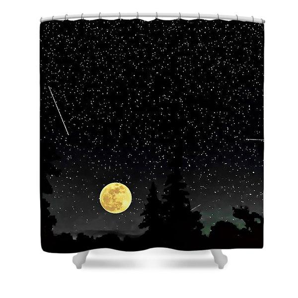 Night Moves Shower Curtain by Steve Harrington