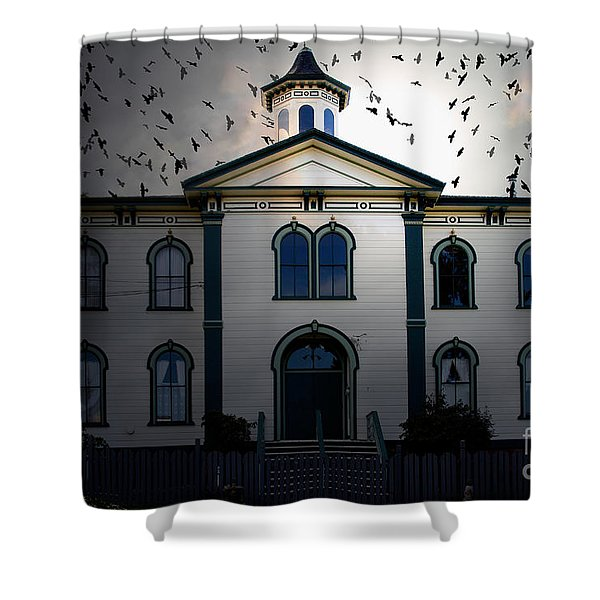 Night of The Birds . 7D12487 Shower Curtain by Wingsdomain Art and Photography