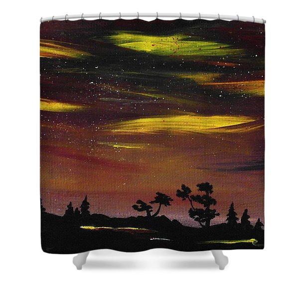 Night Scene Shower Curtain by Anastasiya Malakhova