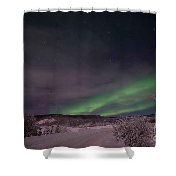 Night Skies Shower Curtain by Priska Wettstein
